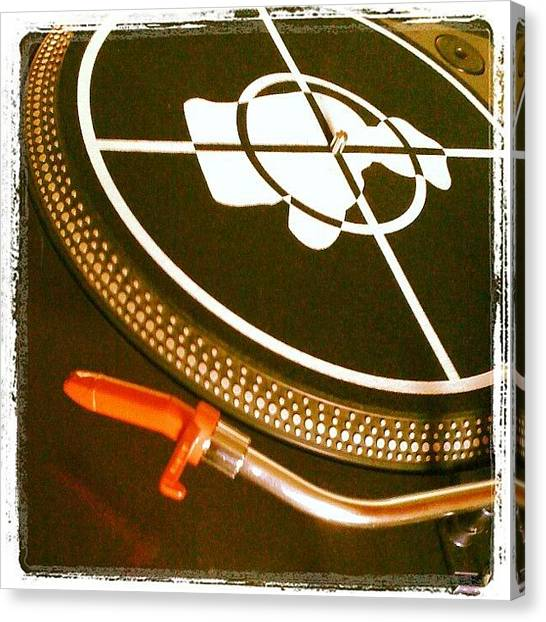 Hip Hop Canvas Print - Turntable by Tim Topping