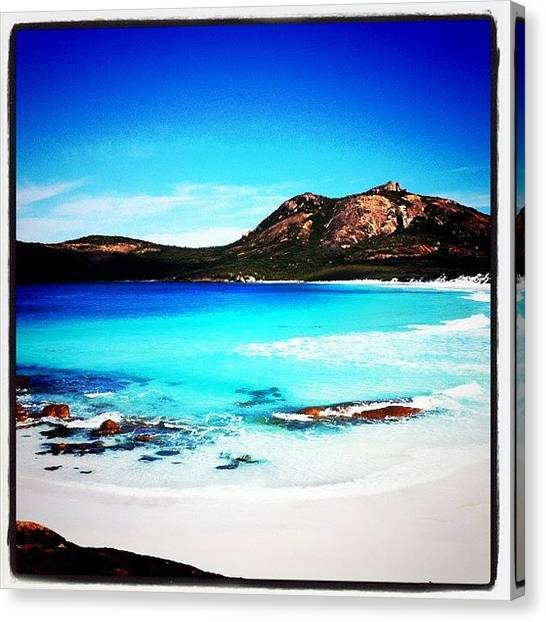 White Sand Canvas Print - Turquoise Bay by Bonnie Mulholland