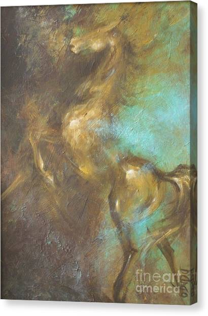 Turquoise Dust 2 Canvas Print