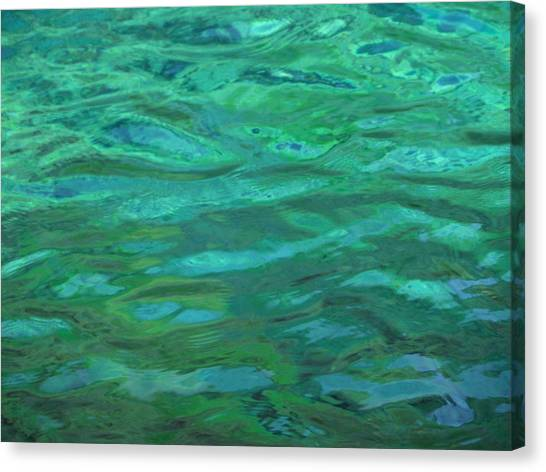 Turquoise Ripples Canvas Print