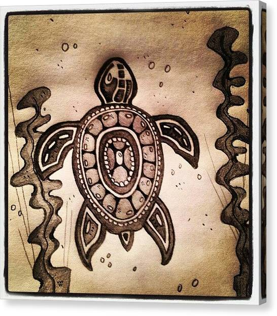 Sea Turtles Canvas Print - Turtle ! Just Finished It Now :) #draw by Oliver Parker