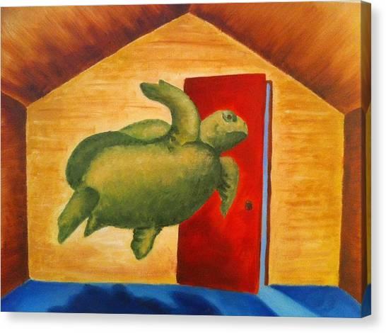 Turtle Entrapment Canvas Print