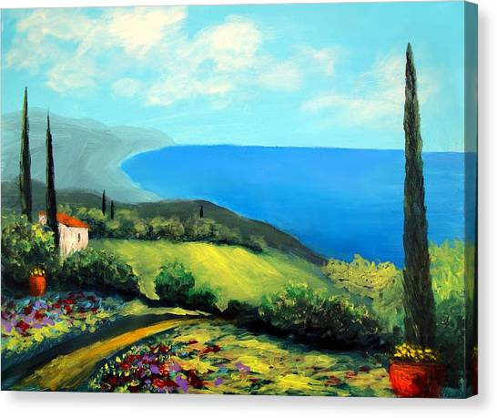 Tuscan Coastline Canvas Print