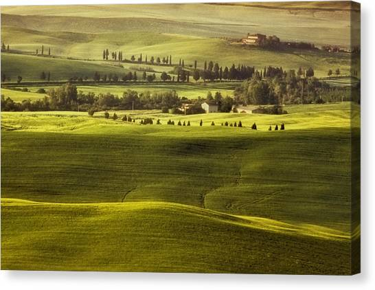 Crete Canvas Print - Tuscan Fields by Andrew Soundarajan