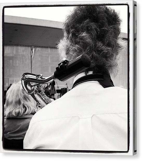 Jazz Canvas Print - Tweede Sax Wacht by Arthur Geursen