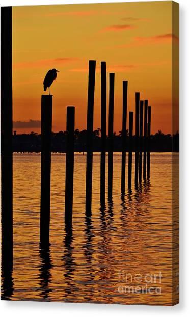 Lynda Dawson-youngclaus Canvas Print - Twelve Poles At Sunset by Lynda Dawson-Youngclaus