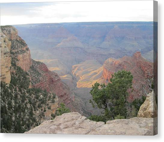 Twilight At Grand Canyon Canvas Print by Pasha Sourbeer