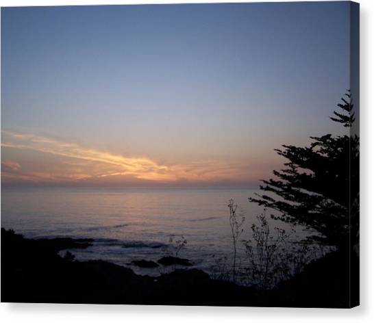 Twilight Coastline Canvas Print