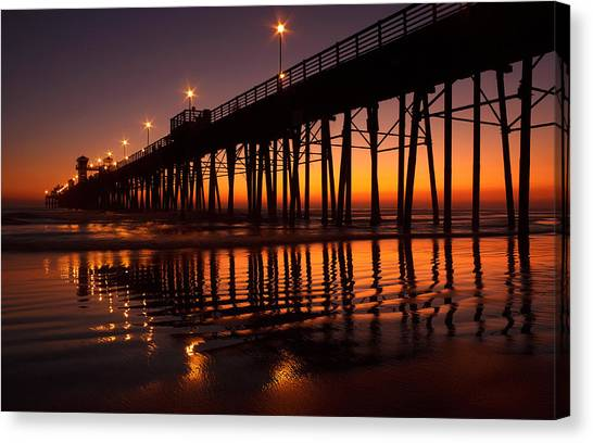 Canvas Print - Twilight Night Lights by Donna Pagakis