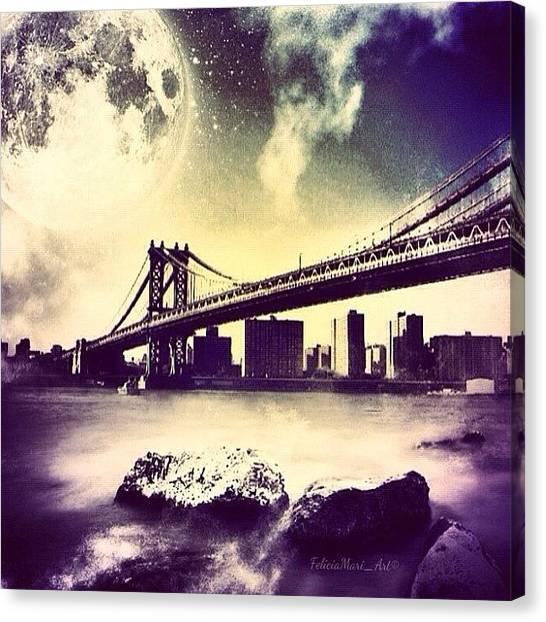 Pencils Canvas Print - ✨twilight Over Manhattan Bridge✨ by Felicia Luxama