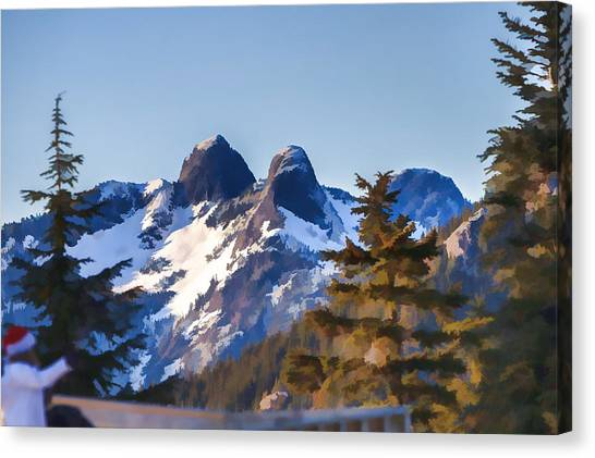 Twin Peaks Painting Canvas Print