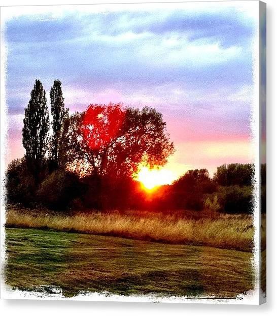 Sun Canvas Print - Twin Suns by Mark B