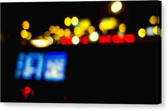 Twinkling Traffic Lights Canvas Print by Susan Stone