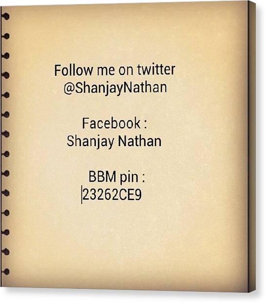 Social Canvas Print - #twitter #facebook #bbm #social #pin by Pic Mania