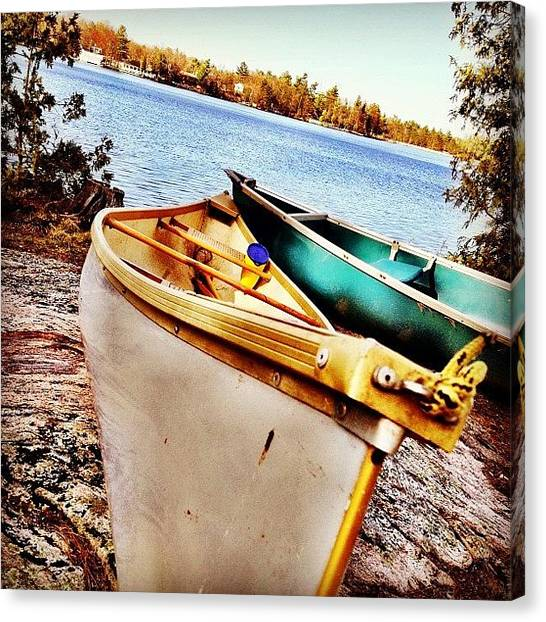 Iphoneonly Canvas Print - Two Canoes by Christopher Campbell