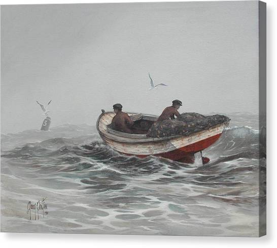 Two Fishermen Canvas Print