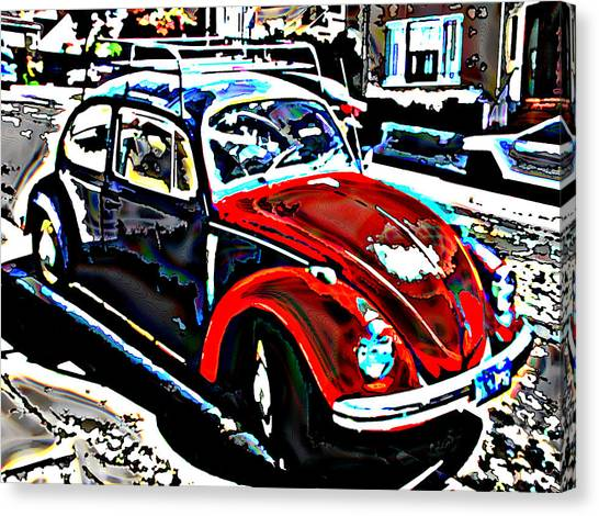 Two Toned Vw Beetle Canvas Print