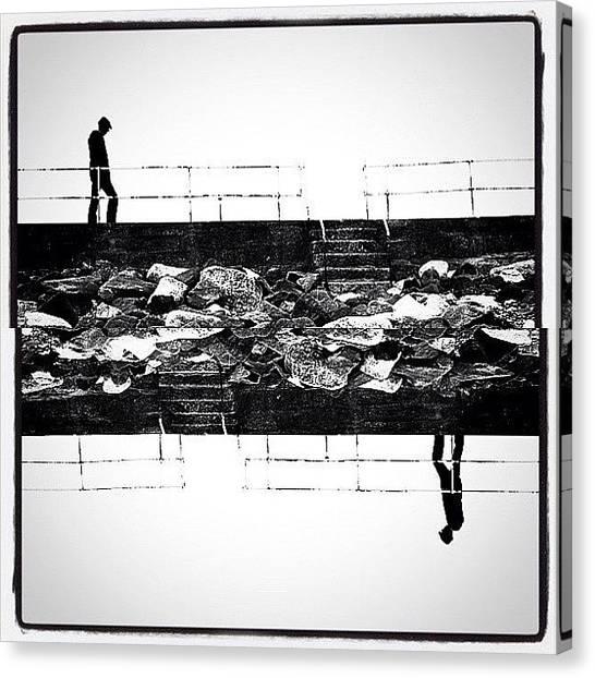 Symmetrical Canvas Print - Two Worlds by James Peto