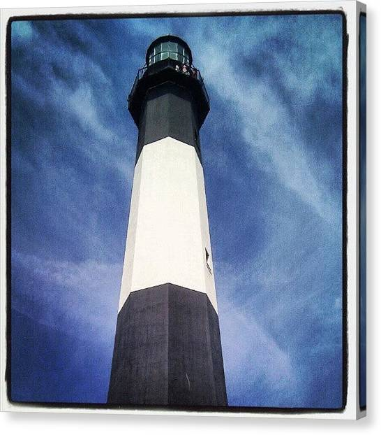 Georgia Canvas Print - Tybee Island Lighthouse. #savannah by Christian Carollo