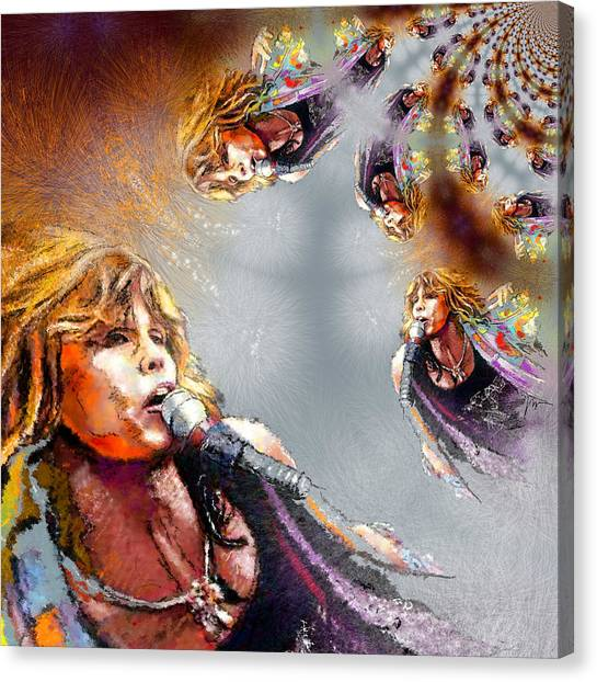 Aerosmith Canvas Print - Tyler Mania by Miki De Goodaboom