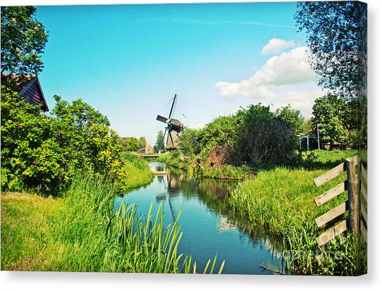 Typical Dutch  Windmill Canvas Print