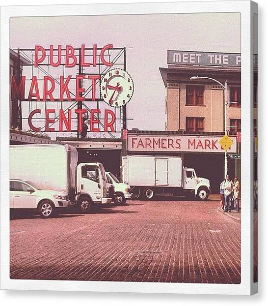 Seattle Canvas Print - Typical #pikeplace Picture by Shana Ray