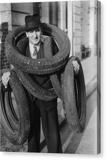 Tyred Out Canvas Print by Fox Photos