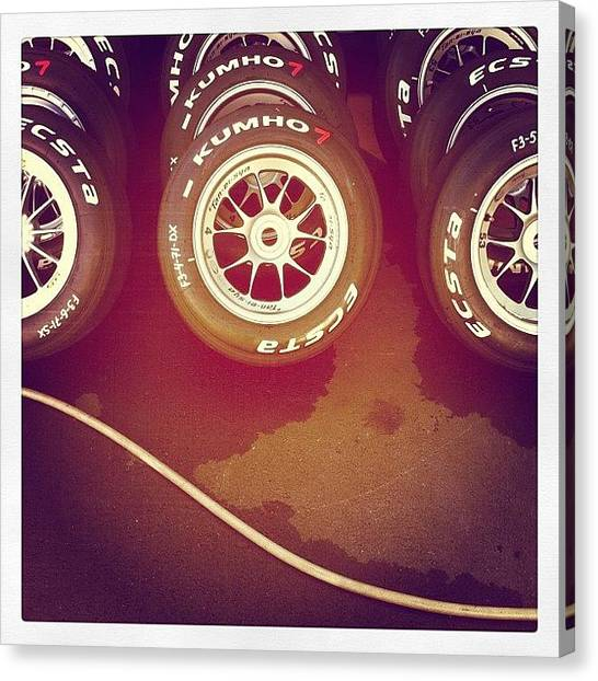 Racing Canvas Print - Tyres by Ale Romiti 🇮🇹📷👣