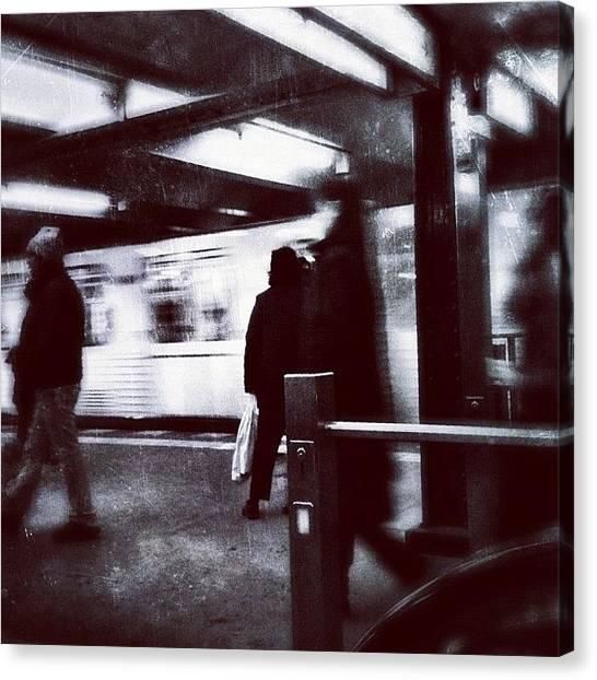 Berlin Canvas Print - U Bahnhof Wittenbergplatz by Cornelia Woerster