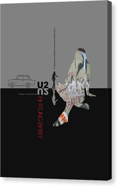 Rock Music Canvas Print - U2 Poster by Naxart Studio