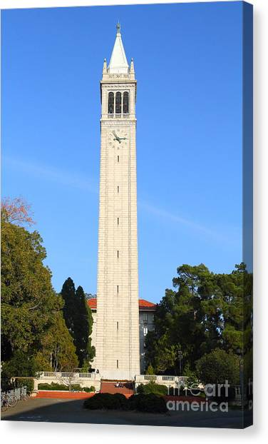 Uc Berkeley Canvas Print - Uc Berkeley . Sather Tower . The Campanile . 7d10050 by Wingsdomain Art and Photography