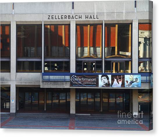 Uc Berkeley Canvas Print - Uc Berkeley . Zellerbach Hall . 7d9989 by Wingsdomain Art and Photography