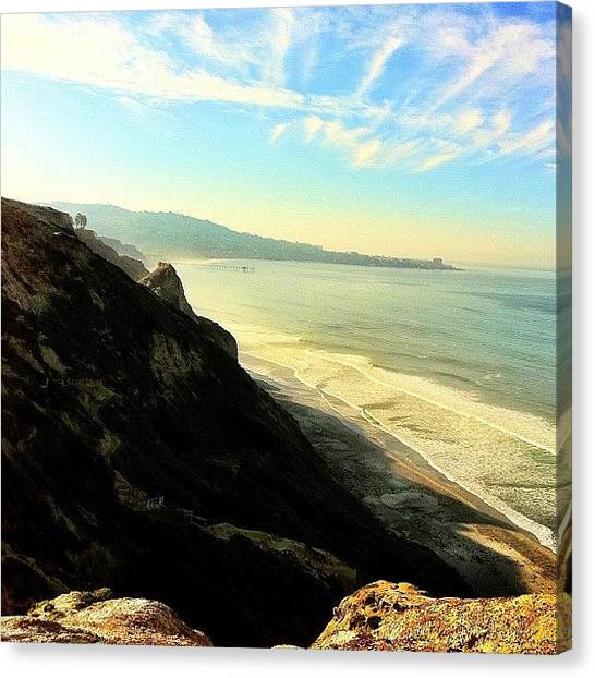Ucsd Canvas Print - #ucsd #beach #hdr #ocean #pretty by Anthony Wang