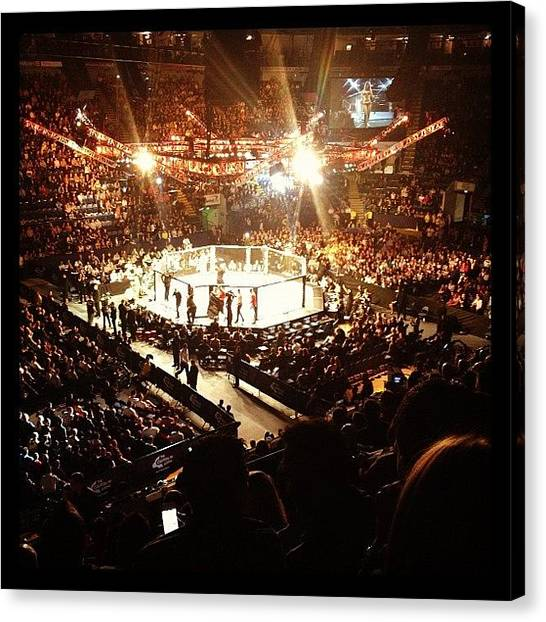 Fighting Canvas Print - Ufc The Octagon by Oliver Smith
