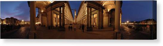 The Uffizi Gallery Canvas Print - Uffizi by Alberto Otuyama