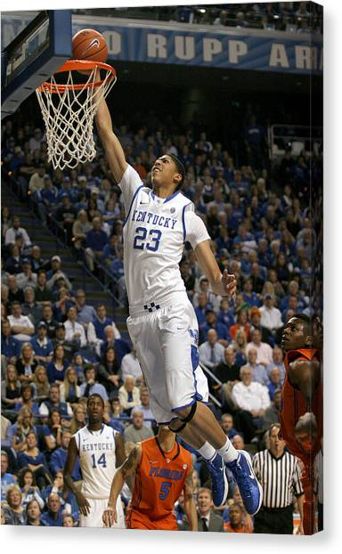 University Of Kentucky Canvas Print - Uk V. Fla - 5 by Mark Boxley