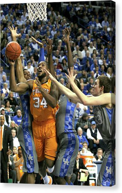 University Of Kentucky Canvas Print - Uk V. Ut - 5 by Mark Boxley