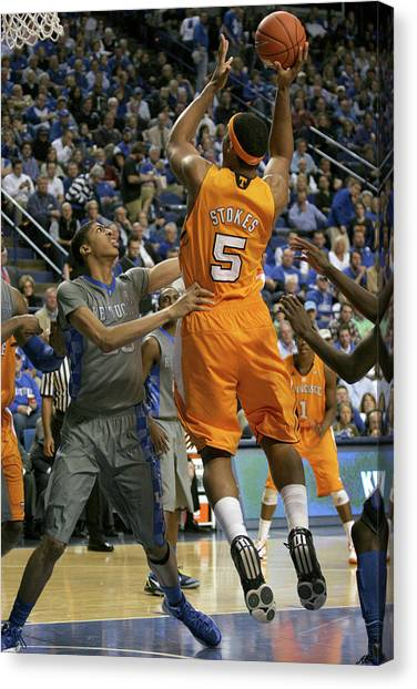 University Of Kentucky Canvas Print - Uk V Ut - 6 by Mark Boxley