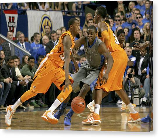University Of Kentucky Canvas Print - Uk V Ut - 9 by Mark Boxley