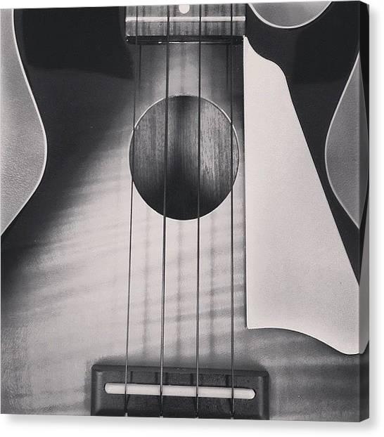Ukuleles Canvas Print - #ukulele #epiphone #lespaul by Michael Hasha