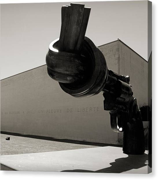 Liberte Canvas Print - Un Fleuve De Liberte by RicardMN Photography