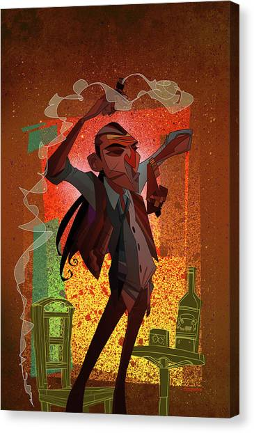 cartoon characters canvas print un hombre by nelson dedos garcia - Cartoon Characters To Print