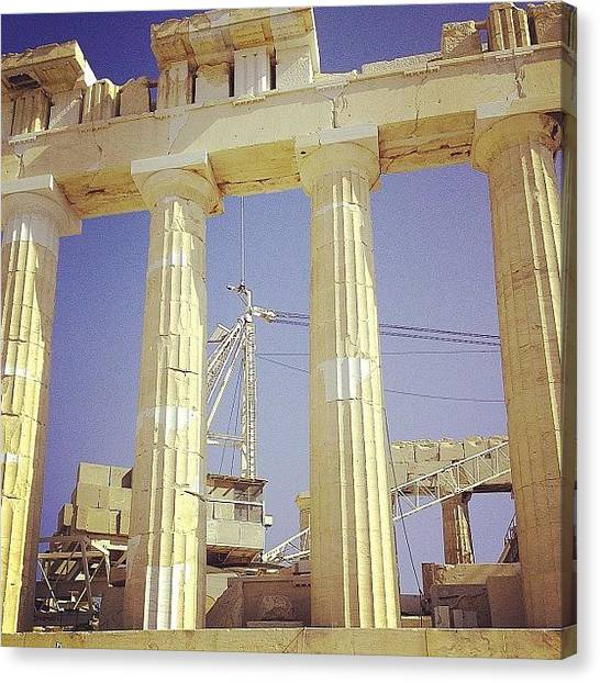 The Acropolis Canvas Print - Under Construction. #parthenon by Dimitre Mihaylov