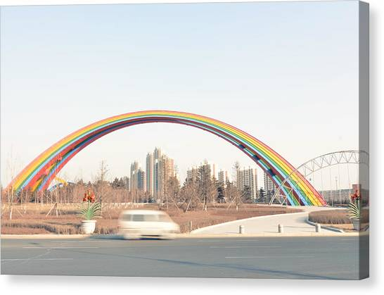 Under Rainbow Canvas Print by Andy Brandl