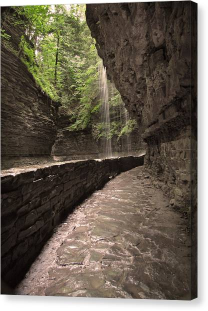 Under The Falls Canvas Print