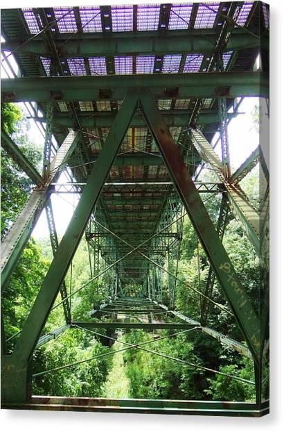 Under The Green Bridge 2 Canvas Print