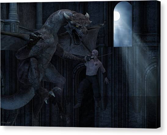 Dungeons Canvas Print - Under The Moonlight by Lourry Legarde
