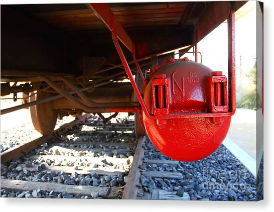 Old Caboose Canvas Print - Under The Old Western Pacific Caboose Train . 7d10722 by Wingsdomain Art and Photography