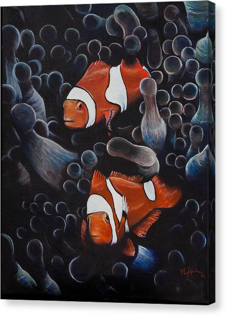 Saltwater Life Canvas Print - Under The Sea by Mike  Haslam