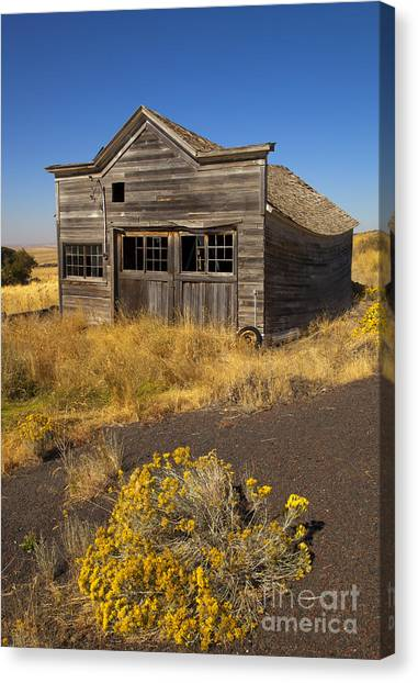 Derelict Canvas Print - Under The Weight Of It All by Mike  Dawson
